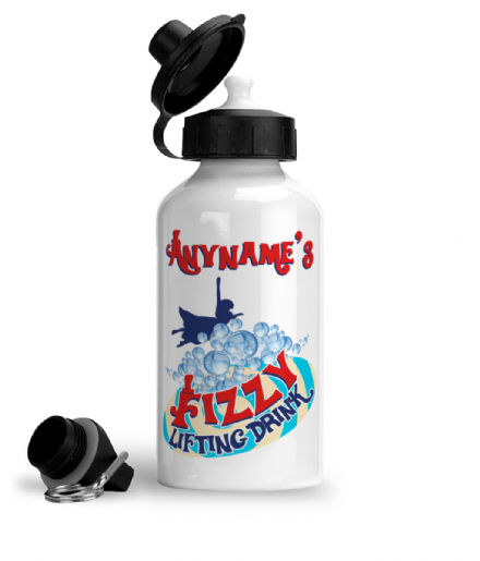 Personalised Fizzy Lifting Drink Aluminium Water Bottle Based Charlie and the Chocolate Factory